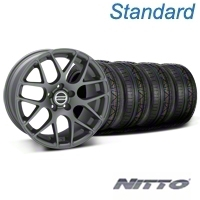 Charcoal AMR Wheel & NITTO Invo Tire Kit - 19x8.5 (05-14 All) - AmericanMuscle Wheels KIT28336||79520