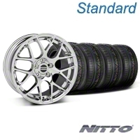 Chrome AMR Wheel & NITTO Invo Tire Kit - 19x8.5 (05-13 All)