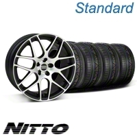 Matte Black Machined AMR Wheel & NITTO Invo Tire Kit - 19x8.5 (05-13 All)
