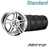Chrome 2010 Style GT500 Wheel & NITTO Invo Tire Kit - 19x8.5 (05-14 All) - AmericanMuscle Wheels KIT||28237||79521