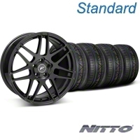 Forgestar F14 Monoblock Piano Black Wheel & NITTO INVO Tire Kit - 19x9 (05-14 All) - Forgestar 29620||79520||KIT