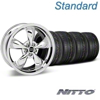 Bullitt Chrome Wheel & NITTO INVO Tire Kit - 19x8.5 (05-14 GT, V6) - American Muscle Wheels KIT28249