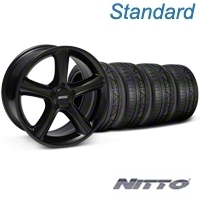 Black 2010 Style GT Premium Wheel & NITTO InvoTire Kit - 19x8.5 (05-14 All) - AmericanMuscle Wheels KIT28230||79520