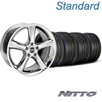 GT Premium Style Chrome Wheel & NITTO INVO Tire Kit - 19x8.5 (05-14 All) - American Muscle Wheels 79520||KIT28231