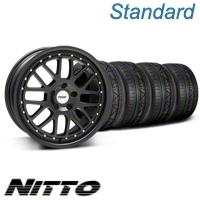 Matte Black TSW Valencia Wheel & NITTO Invo Tire Kit - 19x8 (05-13 All)