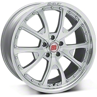 Shelby CS40 Silver Machined Wheel - 20x9 (05-14 All) - Shelby CS40-295430-S