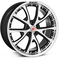 Shelby CS40 Black Machined Wheel - 20x9 (05-14 All) - Shelby CS40-295430-B