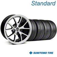 Black Machined FR500 Wheel & Sumitomo Tire Kit - 17x9 (99-04 All) - AmericanMuscle Wheels KIT||28380||63000