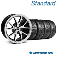 FR500 Black Machined Wheel & Sumitomo Tire Kit - 17x9 (94-98 All) - American Muscle Wheels 28380||63015||KIT