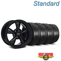 Solid Black Bullitt Wheel & Mickey Thompson Tire Kit 17x8 (05-10 GT; 05-14 V6) - AmericanMuscle Wheels KIT||28478||79535