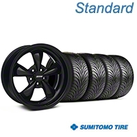 Solid Black Bullitt Wheel & Sumitomo Tire Kit 18x9 (05-10 GT; 05-14 V6) - AmericanMuscle Wheels KIT||28481||63008