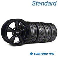 Solid Black Bullitt Wheel & Sumitomo Tire Kit 17x8 (94-04 All) - AmericanMuscle Wheels KIT||28478||63004