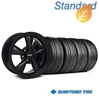 Bullitt Solid Black Wheel & Sumitomo Tire Kit - 17x8 (94-04 All) - American Muscle Wheels 28478||63004||KIT