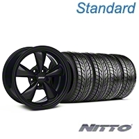 Solid Black Bullitt Wheel & NITTO Tire Kit 17x9 (99-04 All) - AmericanMuscle Wheels KIT||28480||76000