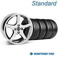 Chrome 1995 Style Cobra R Wheel & Sumitomo All Season Tire Kit- 17x8 (87-93; Excludes 93 Cobra) - AmericanMuscle Wheels KIT||28312||63033