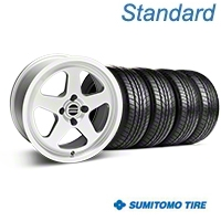 Silver SC Style Wheel & Sumitomo All Season Tire Kit- 17x8 (87-93; Excludes 93 Cobra) - AmericanMuscle Wheels KIT||10091||63033