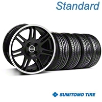 Black 10th Anniversary Cobra Style Wheel & Sumitomo All Season Tire Kit- 17x9 (87-93; Excludes 93 Cobra) - AmericanMuscle Wheels KIT||32020||63033