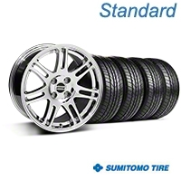 Chrome 10th Anniversary Cobra Style Wheel & Sumitomo All Season Tire Kit- 17x9 (87-93; Excludes 93 Cobra) - AmericanMuscle Wheels KIT||32018||63033