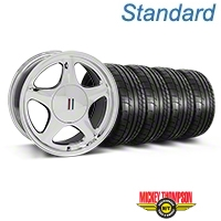 Chrome Pony Style Wheel & Mickey Thompson Tire Kit- 17x8 (87-93; Excludes 93 Cobra) - AmericanMuscle Wheels KIT||99379||79531