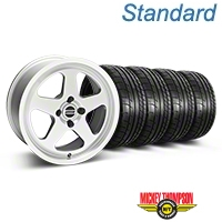 Silver SC Style Wheel & Mickey Thompson Tire Kit- 17x8 (87-93; Excludes 93 Cobra) - AmericanMuscle Wheels KIT||10091||79531