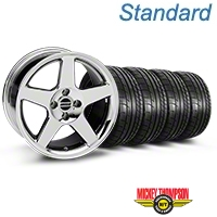 Chrome 2003 Style Cobra Wheel & Mickey Thompson Tire- 17x9 (87-93; Excludes 93 Cobra) - AmericanMuscle Wheels KIT||28058||79531