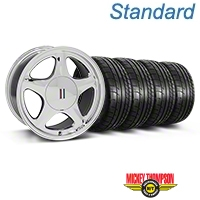 Chrome Pony Style Wheel & Mickey Thompson Tire Kit- 17x9 (87-93; Excludes 93 Cobra) - AmericanMuscle Wheels KIT||99382||79531