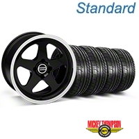 Black SC Style Wheel & Mickey Thompson Tire Kit- 17x9 (87-93; Excludes 93 Cobra) - AmericanMuscle Wheels KIT||10078||79531
