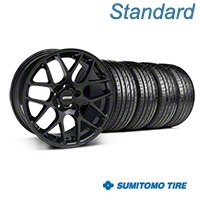 Black AMR Style Wheel & Sumitomo Tire Kit - 18x8 (05-14 All) - AmericanMuscle Wheels KIT||33781||63039