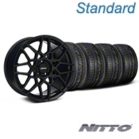 Gloss Black 2013 GT500 Style Wheel & NITTO INVO Tire Kit - 18x9 (05-14 All)