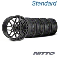 Charcoal 2013 GT500 Style Wheel & NITTO INVO Tire Kit - 18x9 (05-14 All)