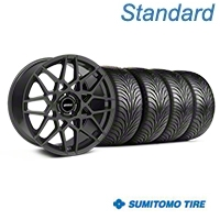 Charcoal 2013 GT500 Style Wheel & Sumitomo Tire Kit - 18x9 (05-14 All)