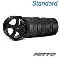 Black 2010 GT Premium Style Mustang Wheel & NITTO INVO Tire Kit - 18x9 (05-14 GT, V6) - AmericanMuscle Wheels KIT||28210||79522