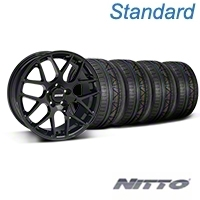 Black AMR Style Wheel & NITTO INVO Tire Kit - 18x9 (05-14 All) - AmericanMuscle Wheels KIT||33782||79522
