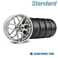 Silver AMR Style Wheel & Sumitomo Tire Kit - 19x8.5 (05-14 All) - AmericanMuscle Wheels KIT||33803||63036