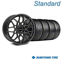 Charcoal 2013 GT500 Style Wheel & Sumitomo Tire Kit - 19x8.5 (05-14 GT, V6)