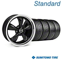 Black Bullitt Mustang Wheel & Sumitomo Tire Kit - 19x8.5 (05-14 GT, V6) - AmericanMuscle Wheels KIT||28247||63036