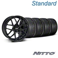 Black AMR Style Wheel & NITTO INVO Tire Kit -19x8.5 (05-14 All) - AmericanMuscle Wheels KIT||33783||79521
