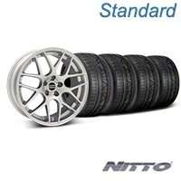 Silver AMR Style Wheel & NITTO INVO Tire Kit - 19x8.5 (05-14 All) - AmericanMuscle Wheels KIT||33803||79521