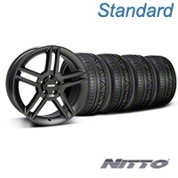 2010 GT500 Style Matte Black Wheel & NITTO INVO Tire Kit - 19x8.5 (05-14 All) - American Muscle Wheels 79521||99270||KIT