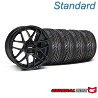 Black AMR Style Wheel & General Tire Kit - 19x8.5 (05-14 All) - AmericanMuscle Wheels KIT||33783||63106