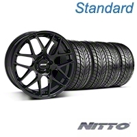 AMR Black Wheel & NITTO Tire Kit - 20x8.5 (05-14 All) - American Muscle Wheels KIT