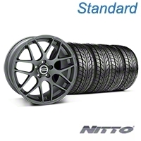 AMR Charcoal Wheel & NITTO Tire Kit - 20x8.5 (05-14 All) - American Muscle Wheels KIT