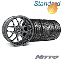 AMR Charcoal Wheel & NITTO Tire Kit - 20x8.5 (05-14 All) - American Muscle Wheels 76005||99365||KIT