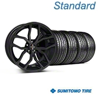 Matte Black Foose Outcast Wheel & Sumitomo Tire Kit - 20x8.5 (05-14) - Foose KIT||32839||63024