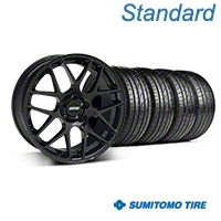 Black AMR Wheel & Sumitomo Tire Kit - 20x8.5 (05-14 All) - AmericanMuscle Wheels KIT||99363||63024