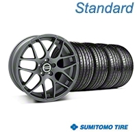 Charcoal AMR Wheel & Sumitomo Tire Kit - 20x8.5 (05-14 All) - AmericanMuscle Wheels KIT||99365||63024