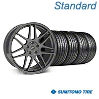 Gunmetal Forgestar F14 Monoblock Wheel & Sumitomo Tire Kit - 20x9 (05-14 All)