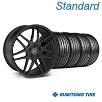 Forgestar F14 Monoblock Matte Black Wheel & Sumitomo Tire Kit - 20x9 (05-14 All) - Forgestar 29628||63024||KIT