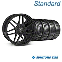 Forgestar F14 Monoblock Piano Black Wheel & Sumitomo Tire Kit - 20x9 (05-14 All) - Forgestar 29830||63024||KIT