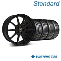 Forgestar CF10 Monoblock Textured Black Wheel & Sumitomo Tire Kit - 19x9 (05-14 All) - Forgestar 29846||63036||KIT